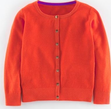 Boden, 1669[^]35113703 Cropped Cashmere Cardigan Orange Red Boden,