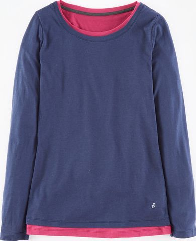 Boden, 1669[^]35176304 Double Layer Top Blue Boden, Blue 35176304