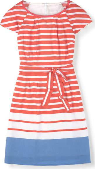 Boden, 1669[^]34667022 Easy Day Dress Red Boden, Red 34667022