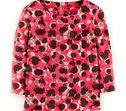 Eliza Top, Red Watercolour Spot,Pink Abstract