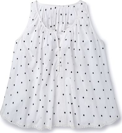 Boden, 1669[^]34974691 Embroidered Spot Top Ivory Boden, Ivory 34974691