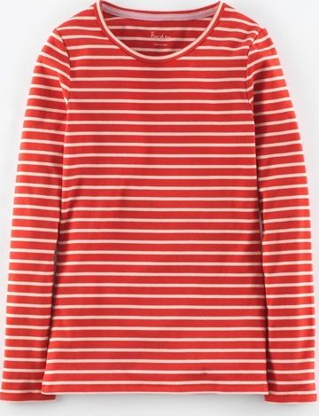 Boden, 1669[^]35005818 Essential Crew Neck Tee Rouge Red/Old Pink
