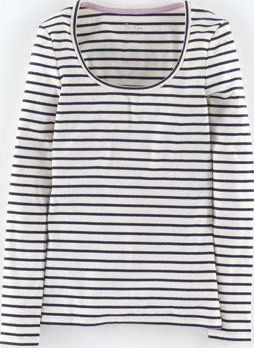 Boden, 1669[^]34841353 Essential Scoop Neck Tee Ivory Boden, Ivory
