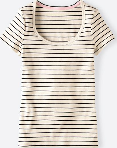 Boden, 1669[^]34672360 Essential Short Sleeve Tee Ivory Boden, Ivory