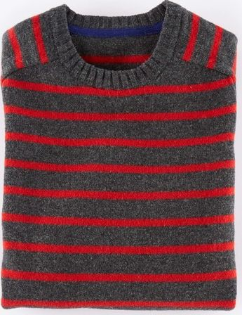 Boden, 1669[^]34915322 Everyday Crew Neck Jumper Charcoal/Flame Boden,