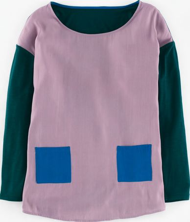 Boden, 1669[^]35014562 Felicity Top Heather/Seaweed/Atlas Blue Boden,