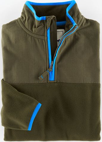 Boden, 1669[^]34940528 Fleece Half Zip Green Boden, Green 34940528