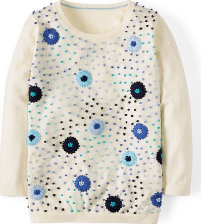Boden, 1669[^]34730036 Flowers and Knots Jumper Blue Boden, Blue 34730036