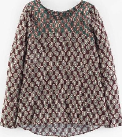 Boden, 1669[^]35188226 Groovy Swing Top Brown Hotchpotch Boden, Brown
