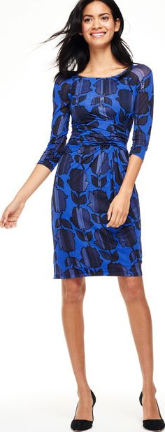 Boden, 1669[^]35065986 Harper Party Dress Blues Shadow Floral Boden,