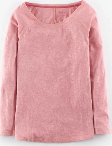 Boden, 1669[^]35003573 Lightweight Baseball Tee Old Rose Boden, Old