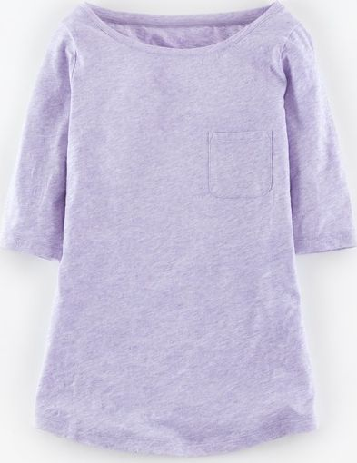 Boden, 1669[^]35001775 Lightweight Boatneck Lilac Marl Boden, Lilac