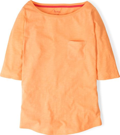 Boden, 1669[^]34755066 Lightweight Boatneck Sherbet Orange Boden,