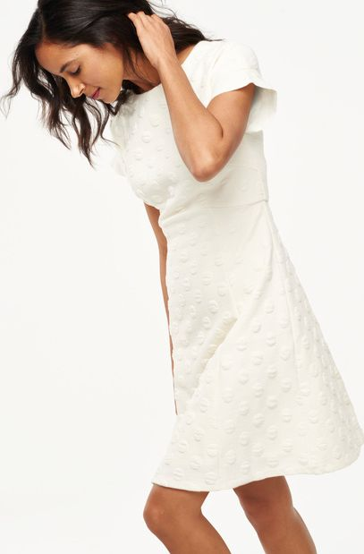 Boden, 1669[^]35071521 Mollie Jacquard Party Dress Ivory Boden, Ivory