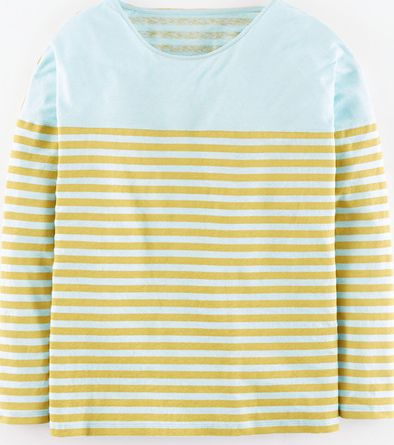 Boden, 1669[^]35011998 Oversize Stripe Top Icicle/Canary Boden,