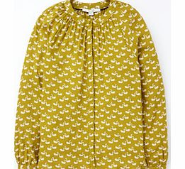 Boden paris blouse yellow white green black and review for Boden yellow