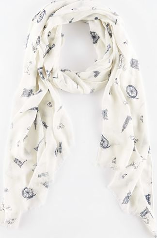 Boden, 1669[^]35054402 Printed Scarf Ivory Transport Boden, Ivory
