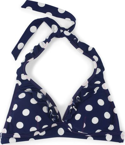 Boden, 1669[^]34566661 Ruffle Bikini Top Sailor Blue Spot Boden, Sailor