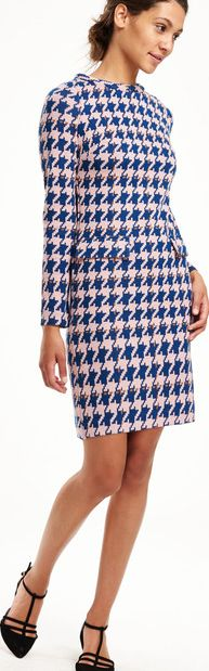 Boden, 1669[^]35069442 Sixties Jacquard Tunic Party Dress Sapphire