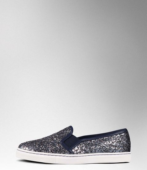 Boden, 1669[^]35059989 Slip-on Trainer Pewter Glitter/Navy Boden,