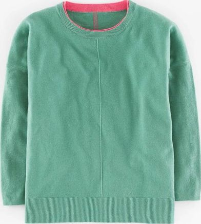 Boden, 1669[^]35223627 Slouchy Cashmere Jumper Juniper/Coral Reef