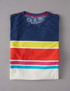 Slubbed Striped T-shirt ML230