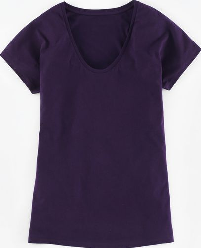 Boden, 1669[^]35028620 Supersoft V Neck Tee Deep Purple Boden, Deep