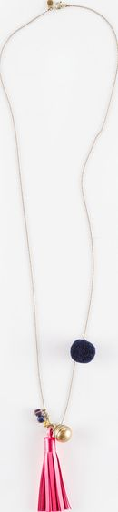 Boden, 1669[^]35049162 Tassel Necklace Gold/Neon Pink/Navy Boden,