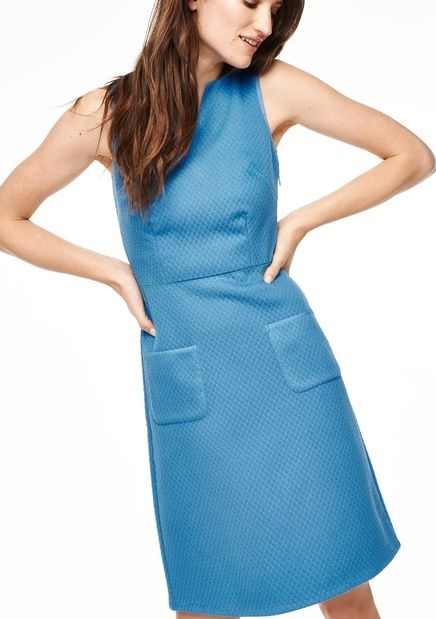 Boden, 1669[^]35071968 Textured Jacquard Party Dress Steel Blue Boden,