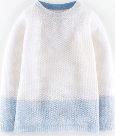 Boden, 1669[^]35200484 Textured Mohair Mix Jumper Ivory/Blue Blush