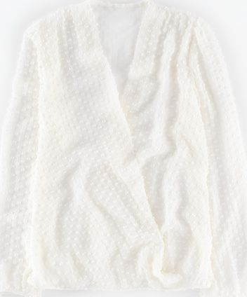 Boden, 1669[^]35182476 Textured Silk Wrap Blouse Ivory Boden, Ivory