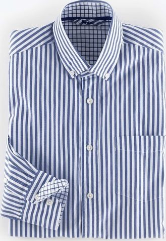 Boden, 1669[^]34940049 The Blues Shirt Blue Bengal Stripe Boden, Blue