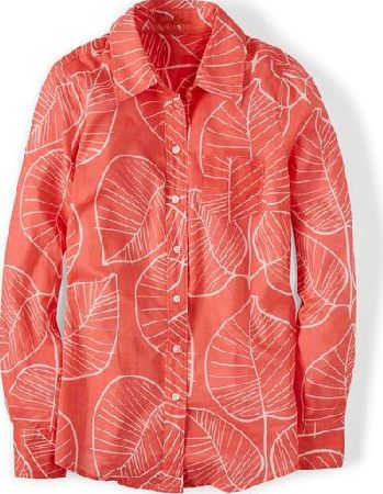 Boden, 1669[^]34837724 The Casual Shirt Soft Red Retro Leaf Boden, Soft