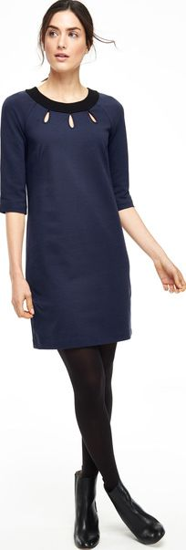 Boden, 1669[^]35163195 Tilly Tunic Party Dress Navy/Black Boden,