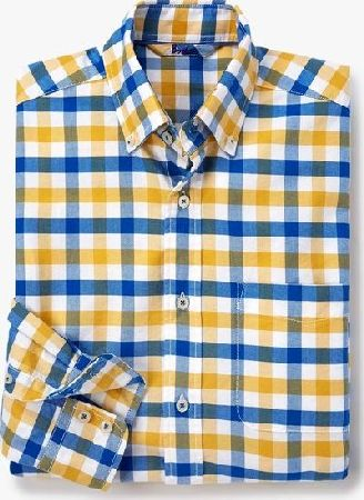 Boden, 1669[^]34883447 Washed Oxford Shirt Yellow/Navy Check Boden,