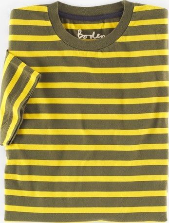 Boden, 1669[^]35013804 Washed T-shirt Fisherman Yellow/Khaki Boden,