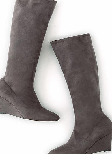 Boden Wedge Stretch Boot, Grey 34218768