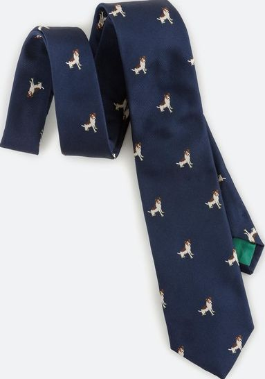 Boden, 1669[^]34441014 Woven Tie Navy Sprout Boden, Navy Sprout 34441014