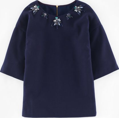 Boden, 1669[^]35183375 Wow Jewelled Top Blue Boden, Blue 35183375