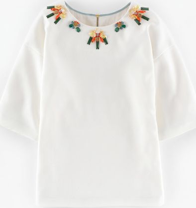 Boden, 1669[^]35183318 Wow Jewelled Top Ivory Boden, Ivory 35183318