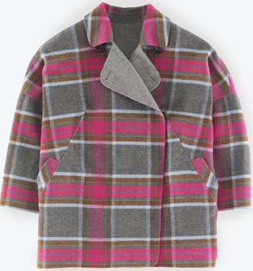 Boden, 1669[^]35221712 Zoe Coat Pink and Grey Check Boden, Pink and