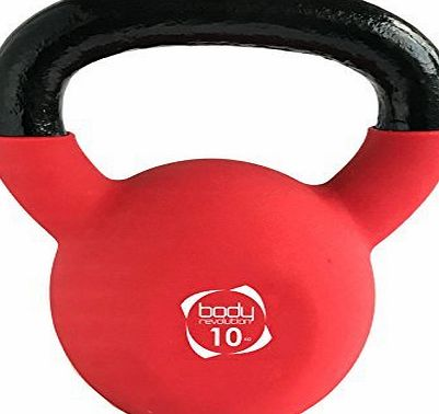 Body Revolution Neoprene Kettlebell - Rubber Coated Cast Iron Kettlebells (10kg)