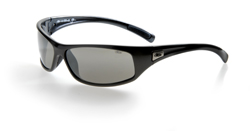 RATTLER BLACK FRAME - POLARIZED SMOKE LENS