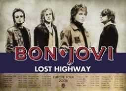 Lost Highway Europe Tour 2008 Music Poster