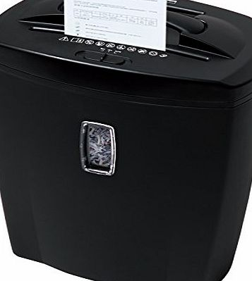 Bonsaii DocShred C156-C 8-Sheet Micro-Cut Paper/CD/Credit Card Shredder, Overload and Thermal Protection, P-3 DIN Level, 3 Minutes Continuous Running Time, 21 Litre Wastebasket Capacity, Basket Window product image