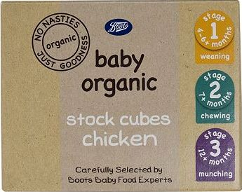 Boots Baby, 2041[^]10078717 Organic Stock Cubes Chicken Stage 1,