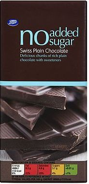 Boots, 2041[^]10010967 No Added Sugar Swiss Plain Chocolate