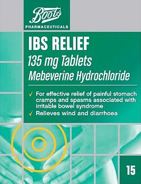 Boots Pharmaceuticals, 2041[^]10033169 Boots IBS Relief 135mg Tablets - 15 Tablets