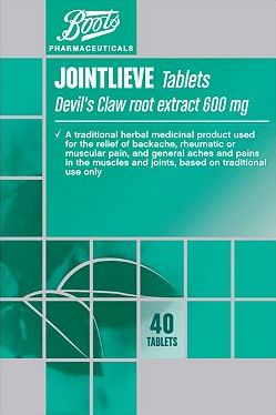 Boots Pharmaceuticals, 2041[^]10010505 Boots Jointlieve Devils Claw root extract 600mg