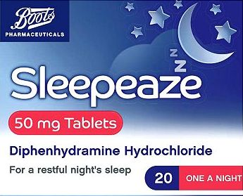 Boots Pharmaceuticals, 2041[^]10033171 Boots Sleepeaze 50mg Tablets (20) 10033171
